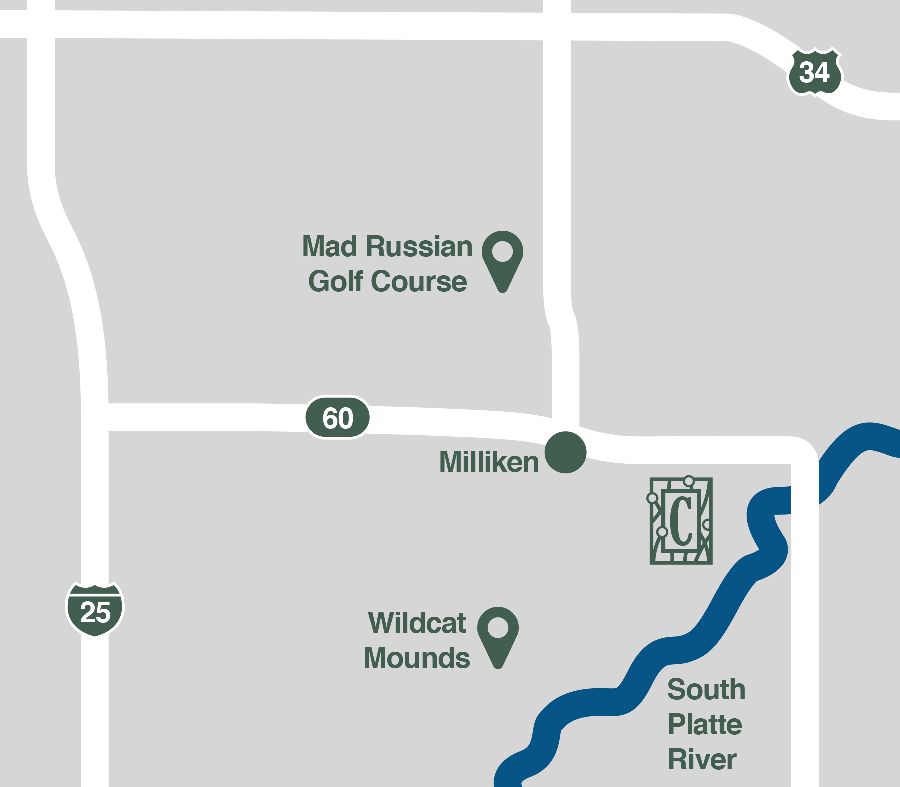 Map - Centennial Crossing, Milliken Colorado